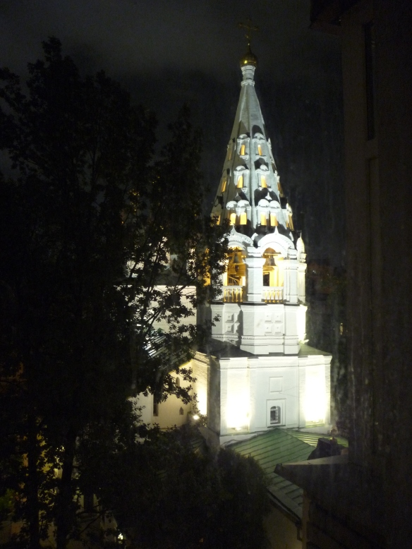 Iglesia de San Nicolás, en Spasopeskovsky pereulok, Arbat.