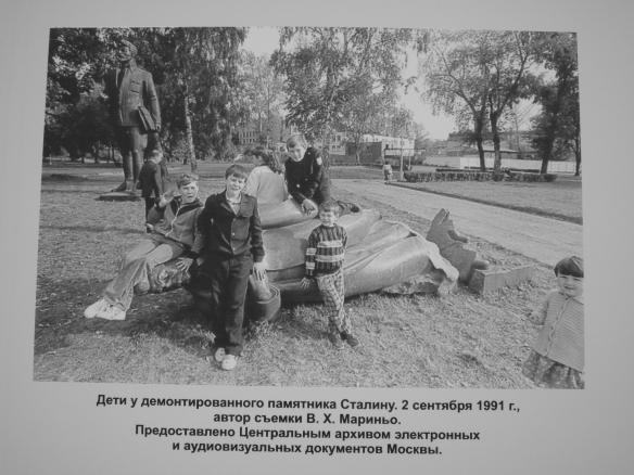 Stalin derribado en 1991. Parque de la Cultura, Moscú